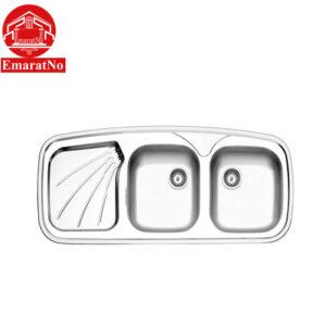 سینک ظرفشویی توکار کد 270 استیل البرز