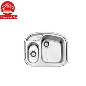 سینک ظرفشویی توکار کد 605 استیل البرز