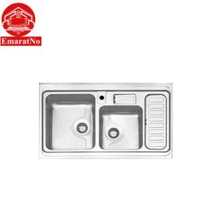 سینک ظرفشویی روکار کد 812 استیل البرز