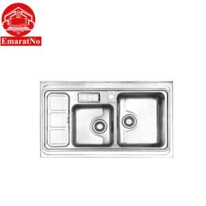 سینک ظرفشویی روکار کد 813 استیل البرز