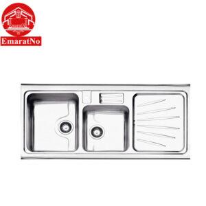 سینک ظرفشویی روکار کد 814 استیل البرز