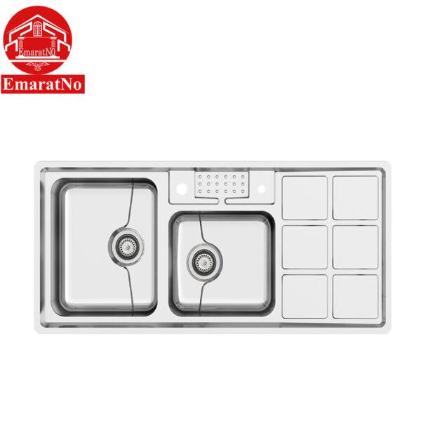 سینک ظرفشویی توکار کد P-8031 کن