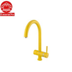 شیر ظرفشویی دو منظوره مدل آلستر زرد شودر
