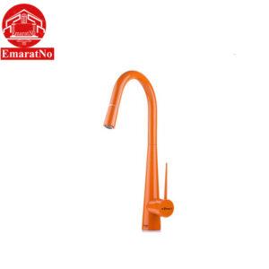 شیر ظرفشویی شاوری مدل ایتن نارنجی شودر
