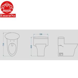 توالت فرنگی کاکتوس گلسار فارس