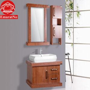 دستشویی کابینتی طرح چوب فولست کد E25