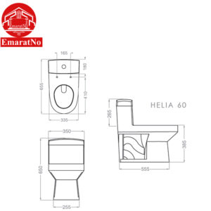 توالت فرنگی هلیا گلسار فارس
