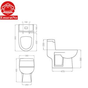 توالت فرنگی ویکتوریا گلسار فارس