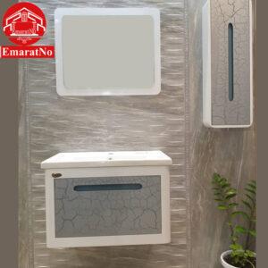 دستشویی کابینتی آلفا نقره ای مدرن 70 سانتی کاترین