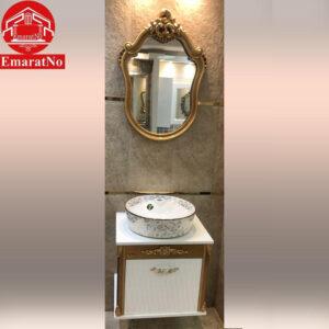 دستشویی کابینتی آیسان طلایی 55 سانتی کاترین