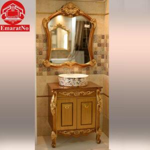 دستشویی کابینتی دیاموند طلایی 70 سانتی کاترین