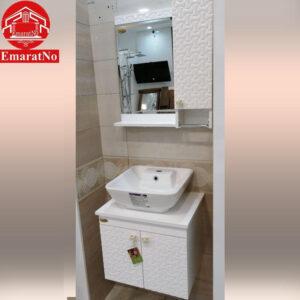 دستشویی کابینتی فلورا سفید 50 سانتی کاترین