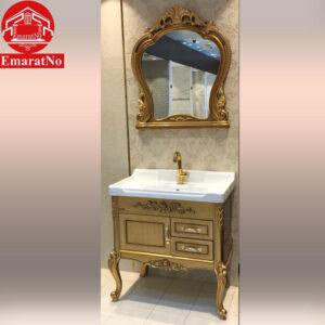دستشویی کابینتی کد 844 طلایی 80 سانتی کاترین